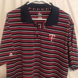 Minnesota Twins Polo By Majestic Short Sleeved